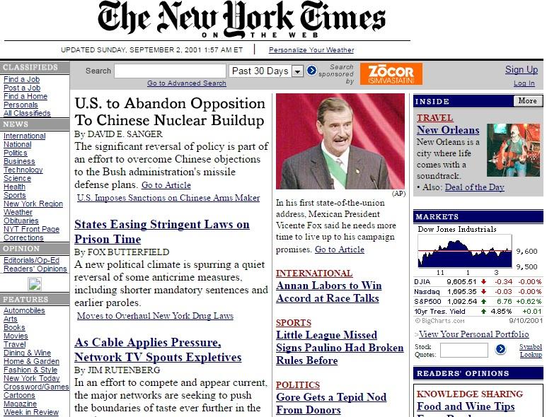NYT 2001