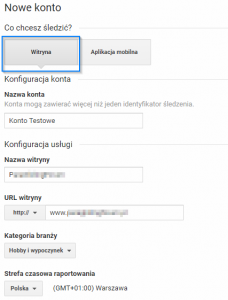 konto google analytics