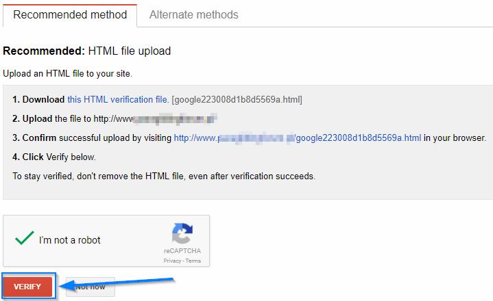 rekomendowane metody google search console